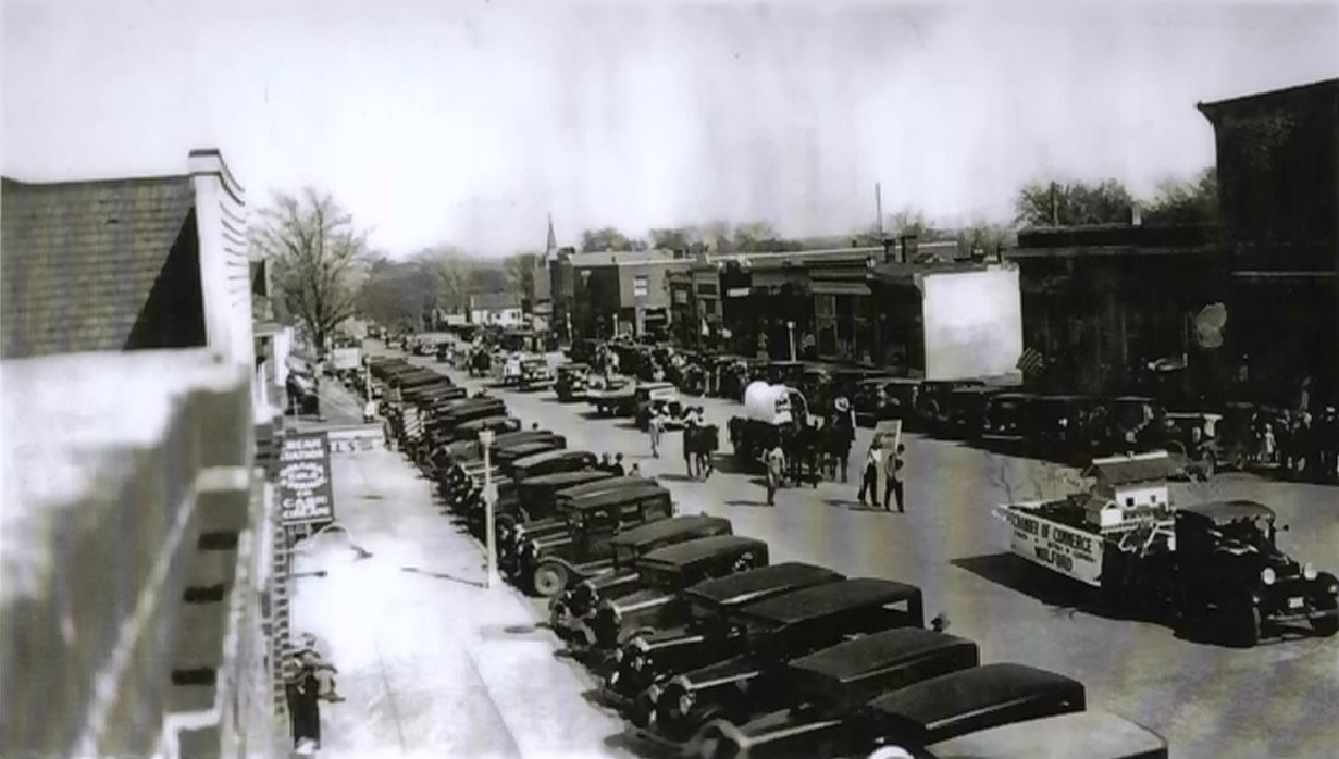 Education Day in November of 1932 down Main Street