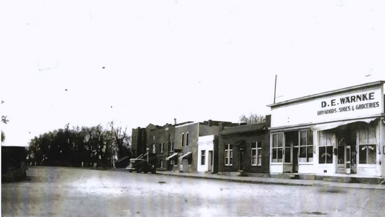 Looking south on B Street in the 1930s