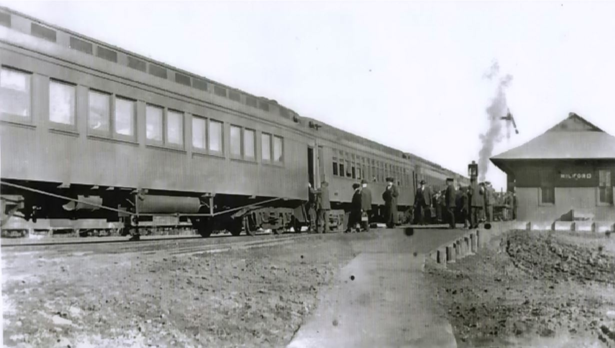 The train depot in 1916